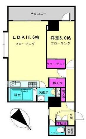 品川区西五反田3丁目12-12貸マンション 199807 / 3階 部屋画像1