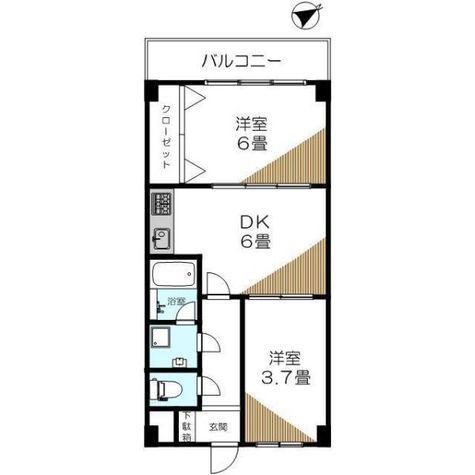秀和田町レジデンス / 4階 部屋画像1