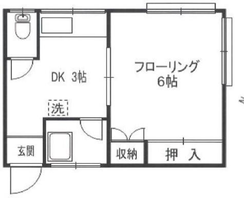 アゼリアハウス / 3階 部屋画像1