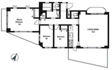 青葉台パークマンション / 2階 部屋画像1