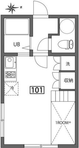 曙橋フラット / 1階 部屋画像1