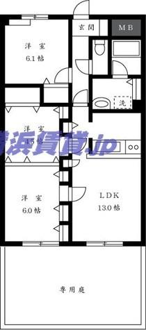 パークサイド長坂 / 1階 部屋画像1