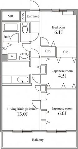 パークサイド長坂 / 3階 部屋画像1