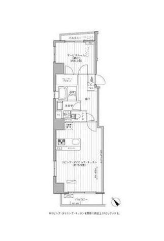 ベルテンポ赤坂 / 3階 部屋画像1