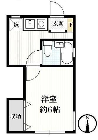 メゾンタケ / 1階 部屋画像1