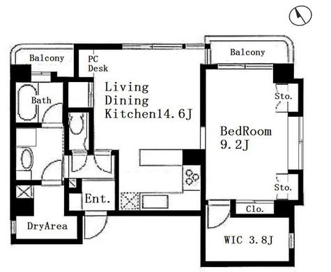 ローゼンハイツ西麻布 / 3階 部屋画像1