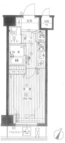 グランド・ガーラ幡ヶ谷WEST / 4階 部屋画像1