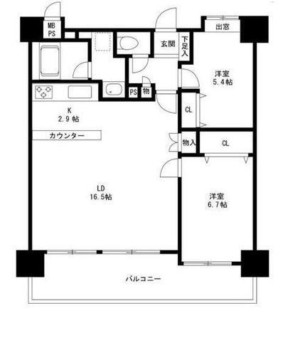 コスモ大崎ツインフォルムマーベルコート / 5階 部屋画像1