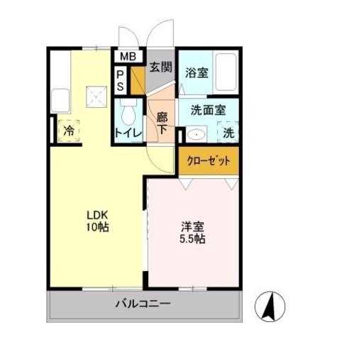 マレアガーデン新横浜 / 1階 部屋画像1