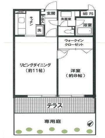 グランドメゾン狸穴 / 1階 部屋画像1