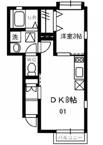 ストーンオーシャン / 1階 部屋画像1
