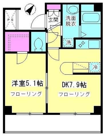 鮫洲 4分マンション / 2階 部屋画像1