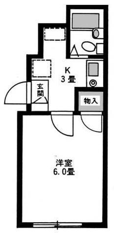 赤坂見附 8分マンション / 1階 部屋画像1