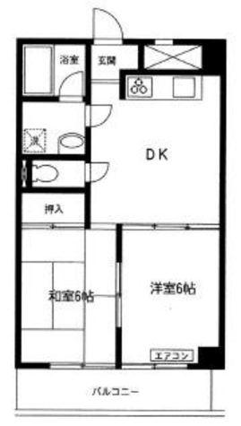 多摩リバビューマンション / 4階 部屋画像1