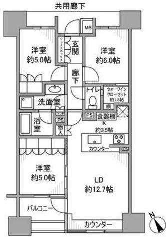 ザ・パークハウス大井町レジデンス / 9階 部屋画像1