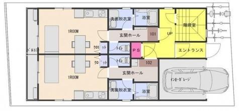 ホワイトリーフ / 1階 部屋画像1