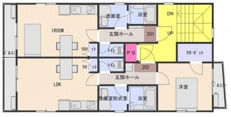 ホワイトリーフ / 3階 部屋画像1