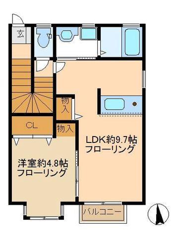 ブランミュール / 2階 部屋画像1