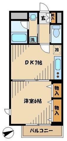 ウェルハウス東大井 / 1階 部屋画像1