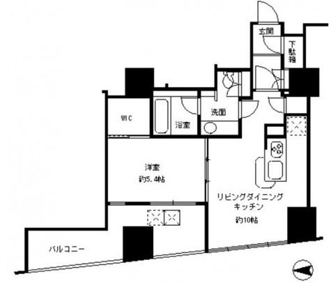 カスタリアタワー品川シーサイド / 5階 部屋画像1