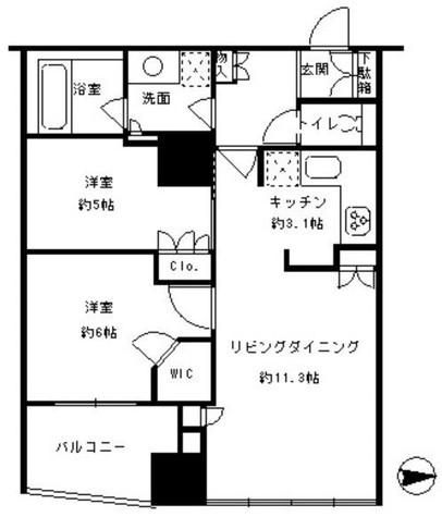 カスタリアタワー品川シーサイド / 16階 部屋画像1