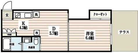 京信マンション / 1階 部屋画像1