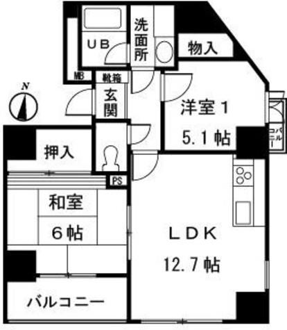 ラフィネITO / 9階 部屋画像1