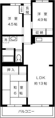 カームタウン相模が丘 / 4階 部屋画像1