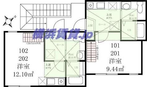 ハーミットクラブハウス瀬戸ヶ谷B棟 / 1階 部屋画像1