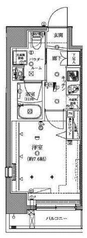 クレイシア芝浦ウォーターフロント / 4階 部屋画像1