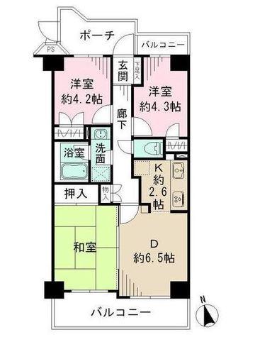 藤和シティコープ西蒲田Ⅲ / 2階 部屋画像1