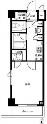 ルーブル泉岳寺前 / 5階 部屋画像1