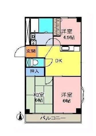協栄ハイツ第2 / 2階 部屋画像1