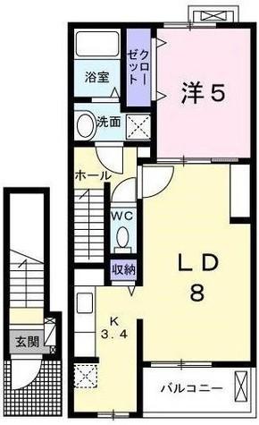 パヴァ-ヌ / 2階 部屋画像1