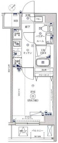 レーヴ横浜花月園前フェルクルールID / 4階 部屋画像1
