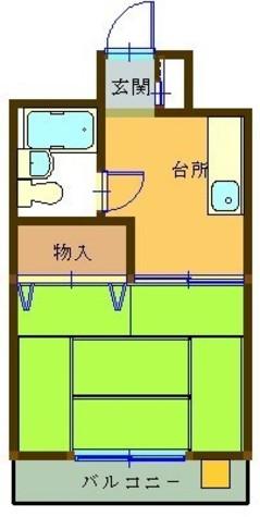 布屋マンション / 2階 部屋画像1