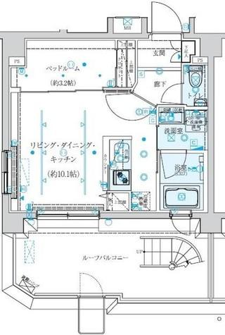 クレイシア新宿 / 16階 部屋画像1