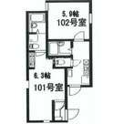 ウイング西横浜 / 201 部屋画像1