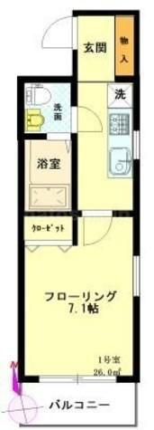 プルミエール・コリーヌ / 2階 部屋画像1