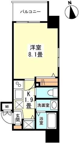 ガーラプレイス新宿御苑 / 9階 部屋画像1