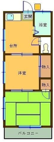 秋場荘 / 1階 部屋画像1