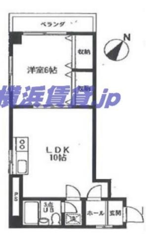 ランドフォレスト横浜蒔田 / 3階 部屋画像1