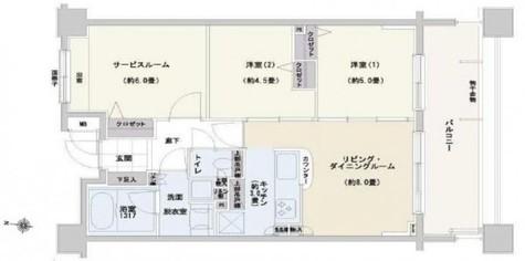 レクシオ東村山ティアーズガーデン / 3階 部屋画像1