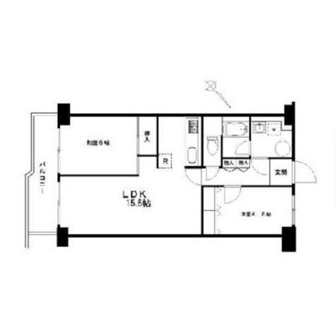 目黒台スカイマンション / 6 Floor 部屋画像1