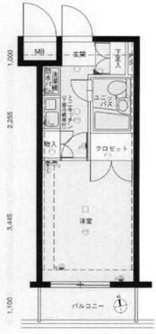 メインステージ大森海岸 / 303 部屋画像1