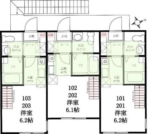 ハーミットクラブハウス石川町ⅢA棟 / 203 部屋画像1