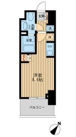 レジディア川崎 / 706 部屋画像1