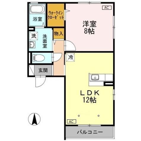 ウィルモア大瀬戸Ⅱ / Ⅰ203 部屋画像1