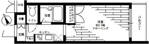 ステージファースト高輪 / 2階 部屋画像1