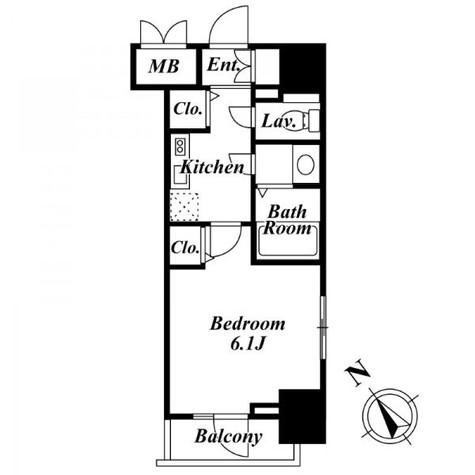 レジディア広尾Ⅱ / 702 部屋画像1